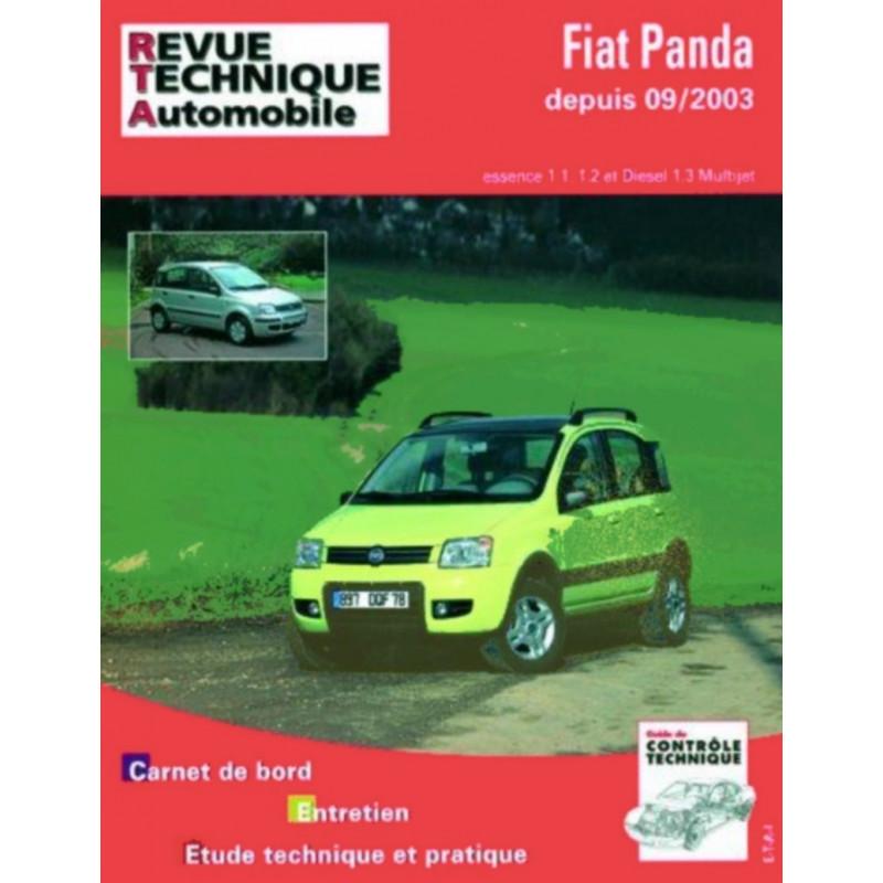 REVUE TECHNIQUE FIAT PANDA et 4X4 ESSENCE et DIESEL DEPUIS 2003- RTA B706 Librairie Automobile SPE 9782726870655