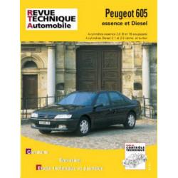 REVUE TECHNIQUE PEUGEOT 605 ESSENCE et DIESEL de 1990 à 1996 - RTA 704 Librairie Automobile SPE 9782726870419