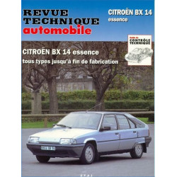 REVUE TECHNIQUE CITROEN BX 14 ESSENCE TOUS TYPES - RTA 703 Librairie Automobile SPE 9782726870310