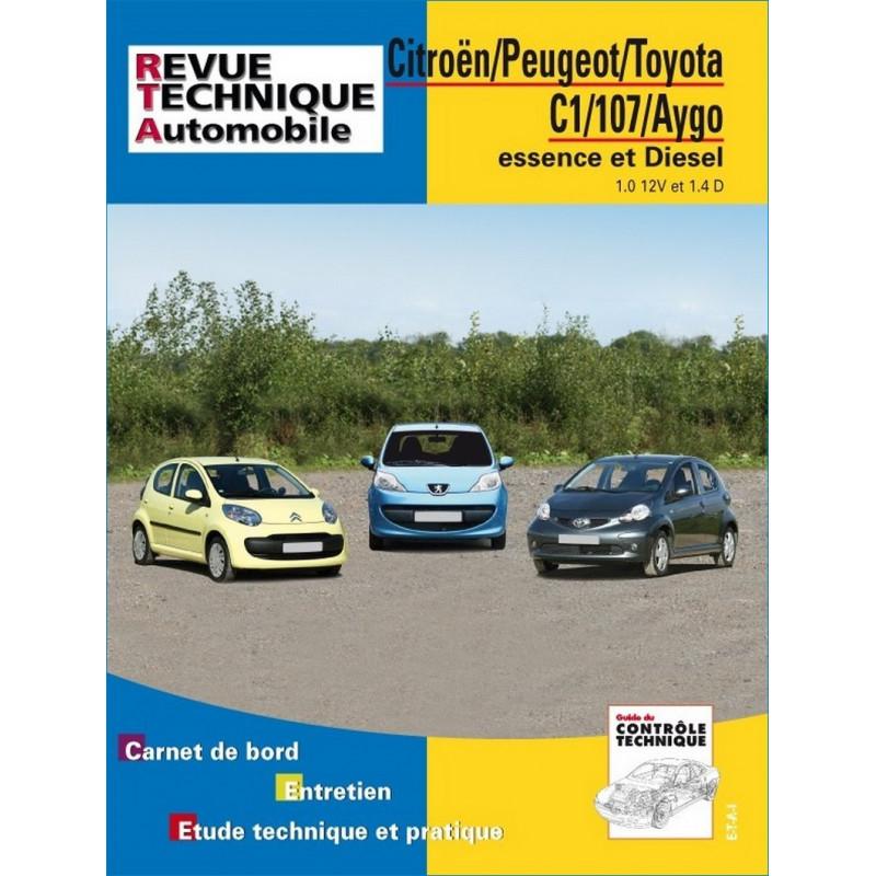 REVUE TECHNIQUE TOYOTA AYGO ESSENCE et DIESEL - RTA B701 Librairie Automobile SPE 9782726870150
