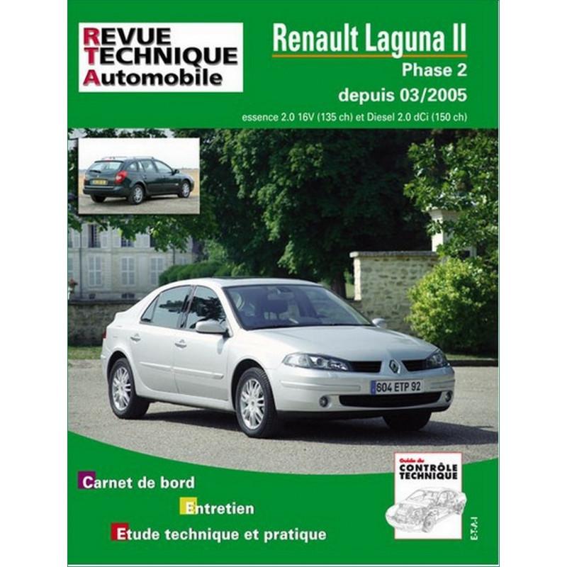 revue technique renault laguna ii phase 2 rta b700 9782726870051. Black Bedroom Furniture Sets. Home Design Ideas