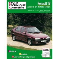 REVUE TECHNIQUE RENAULT 19 ESSENCE ET DIESEL - RTA 700 Librairie Automobile SPE 9782726870037