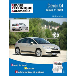 REVUE TECHNIQUE CITROEN C4 DEPUIS 2004 - RTA 697 Librairie Automobile SPE 9782726869710