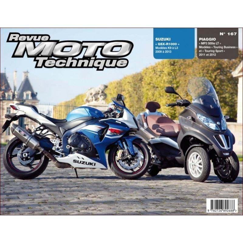 REVUE MOTO TECHNIQUE SUZUKI GSX-R 1000 de 2009 à 2013 - RMT 167 Librairie Automobile SPE 9782726892688