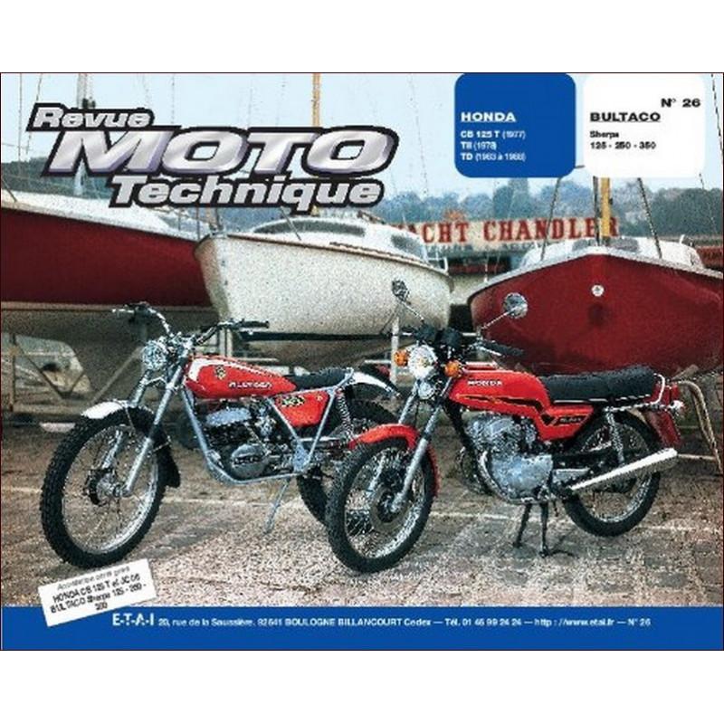 REVUE MOTO TECHNIQUE HONDA CBR 125 de 1977 à 1988 - RMT 26 Librairie Automobile SPE 9782726890196