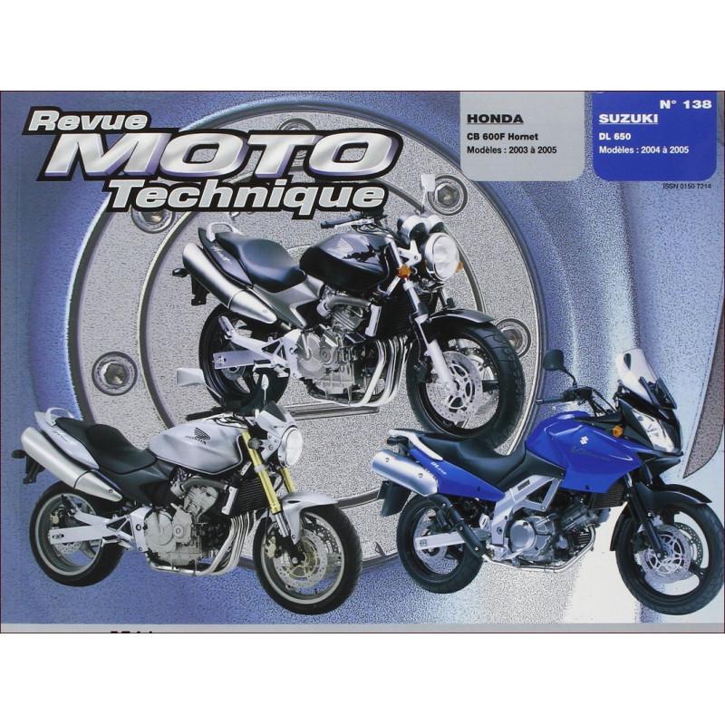 REVUE MOTO TECHNIQUE HONDA CBF HORNET 600 de 2003 à 2005 - RMT 138 Librairie Automobile SPE 9782726892398