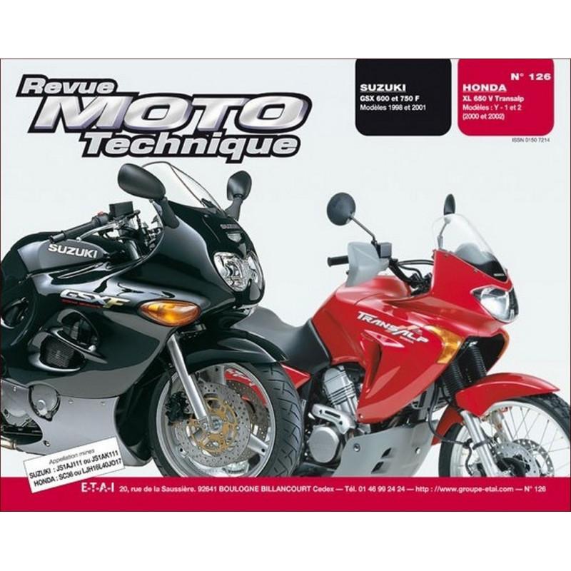 REVUE MOTO TECHNIQUE HONDA XL 650 de 2000 à 2002 - RMT 126 Librairie Automobile SPE 9782726891902