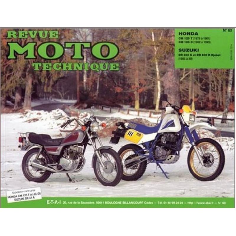 REVUE MOTO TECHNIQUE HONDA CM 125 de 1976 à 2000 - RMT 60 Librairie Automobile SPE 9782726891230