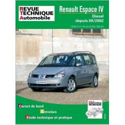 REVUE TECHNIQUE RENAULT ESPACE IV DIESEL DEPUIS 2002 - RTA 682 Librairie Automobile SPE 9782726868218