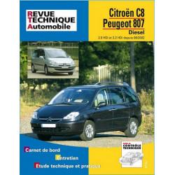 REVUE TECHNIQUE CITROEN C8 DIESEL DEPUIS 2002 - RTA 669 Librairie Automobile SPE 9782726866917