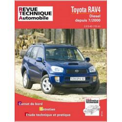 REVUE TECHNIQUE TOYOTA RAV4 DIESEL DEPUIS 2000 - RTA 662 Librairie Automobile SPE 9782726866214