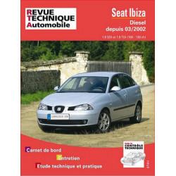 REVUE TECHNIQUE SEAT IBIZA DIESEL DEPUIS 2002- RTA 660 Librairie Automobile SPE 9782726866016