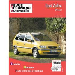 REVUE TECHNIQUE OPEL ZAFIRA DIESEL - RTA 633 Librairie Automobile SPE 9782726863312