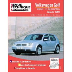REVUE TECHNIQUE VOLKSWAGEN GOLF IV DIESEL DEPUIS 1998- RTA 622 Librairie Automobile SPE 9782726862216