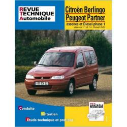 REVUE TECHNIQUE PEUGEOT PARTNER PHASE 1 ESSENCE et DIESEL - RTA 602 Librairie Automobile SPE 9782726860212
