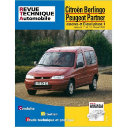 REVUE TECHNIQUE CITROEN BERLINGO PHASE 1 ESSENCE et DIESEL - RTA 602 Librairie Automobile SPE 9782726860212