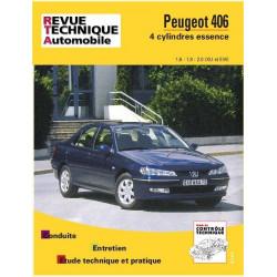 REVUE TECHNIQUE PEUGEOT 406 ESSENCE de 1996 à 2000 - RTA 592 Librairie Automobile SPE 9782726859216