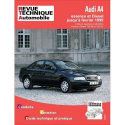 REVUE TECHNIQUE AUDI A4 ESSENCE et DIESEL de 1995 à 1999 - RTA 581 Librairie Automobile SPE 9782726858110