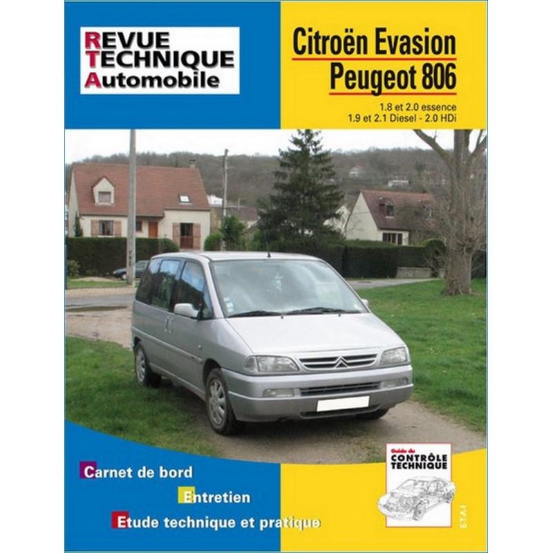 REVUE TECHNIQUE PEUGEOT 806 ESSENCE et DIESEL - RTA 576 Librairie Automobile SPE 9782726857618