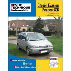 REVUE TECHNIQUE CITROEN EVASION ESSENCE et DIESEL - RTA 576 Librairie Automobile SPE 9782726857618