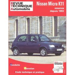 REVUE TECHNIQUE NISSAN MICRA ESSENCE - RTA 572 Librairie Automobile SPE 9782726857212