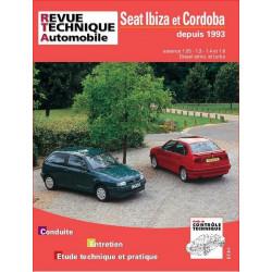 REVUE TECHNIQUE SEAT IBIZA et CORDOBA DEPUIS 1993 - RTA 567 Librairie Automobile SPE 9782726856710