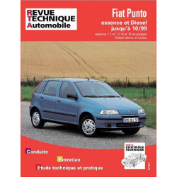 REVUE TECHNIQUE FIAT PUNTO ESSENCE et DIESEL JUSQU'A 1999- RTA 566 Librairie Automobile SPE 9782726856611