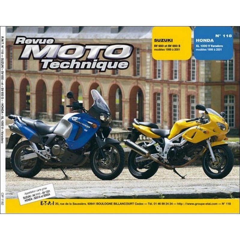 REVUE MOTO TECHNIQUE HONDA XL 1000 VADERO de 1999 à 2001 - RMT 118 Librairie Automobile SPE 9782726891681