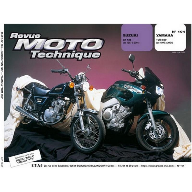 REVUE MOTO TECHNIQUE SUZUKI GN 125 de 1987 à 2001- RMT 104 Librairie Automobile SPE 9782726891339