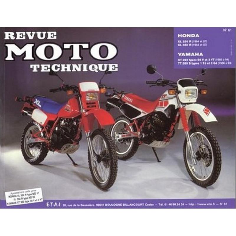REVUE MOTO TECHNIQUE HONDA XLR 250 et 350 de 1984 à 1987 - RMT 61 Librairie Automobile SPE 9782726890554