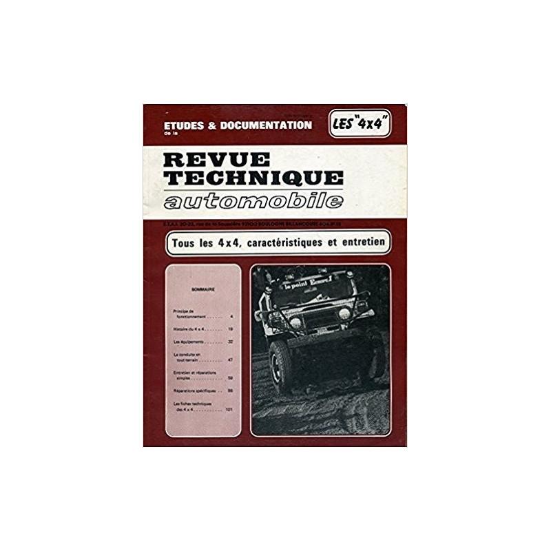 REVUE TECHNIQUE AUTOMOBILE TOUS LES 4 x 4 Librairie Automobile SPE RTA  4x4
