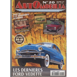 AUTOMOBILIA N°20 LES DERNIERES FORD VEDETTE Librairie Automobile SPE 3793310029003