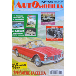 AUTOMOBILIA N°39 L'EPHEMERE FACELLIA 1959-1964 Librairie Automobile SPE 3793310029003