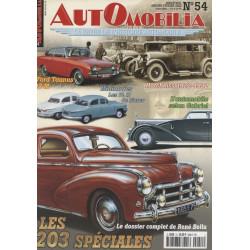 AUTOMOBILIA N°54 LES 203 SPECIALES, EN MARGE DE LA SERIE