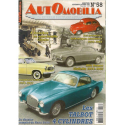 AUTOMOBILIA N°58 LES TALBOT 4 CYLINDRES 1937-1957 Librairie Automobile SPE 3793310029003