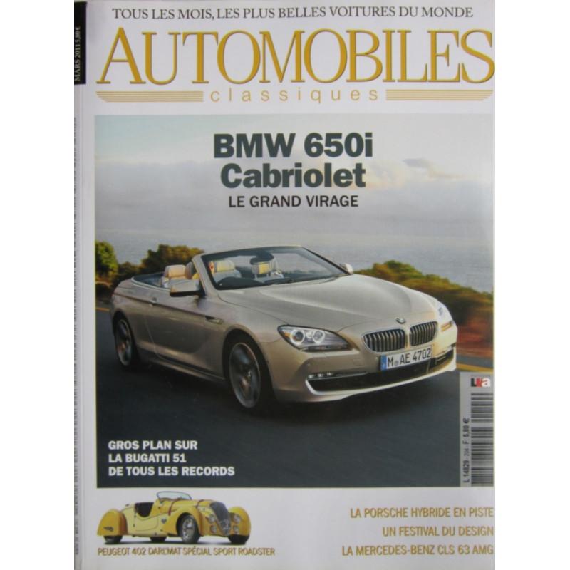 BMW 650i CAB - AUTOMOBILES CLASSIQUES N°204 Librairie Automobile SPE AC204