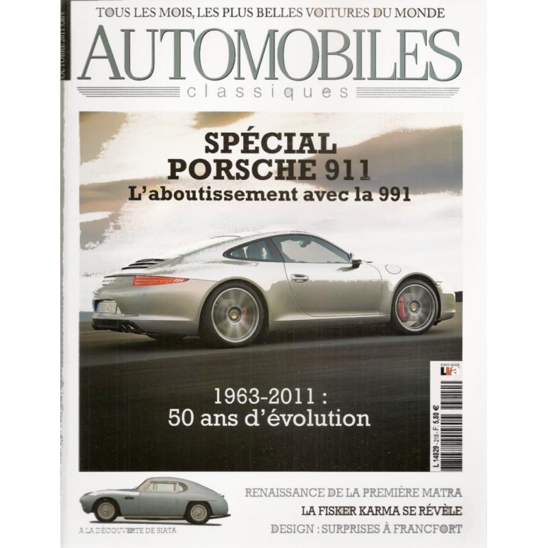 PORSCHE 911 CARRERA GENERATION 991 - AUTOMOBILES CLASSIQUES N°210 Librairie Automobile SPE AC210