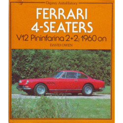 FERRARI 4 SEATERS V12 PININFARINA 2+2, 1960 ON Librairie Automobile SPE 9780850454970
