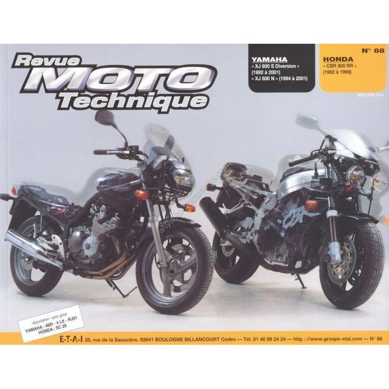 REVUE MOTO TECHNIQUE HONDA CBR 900 RR de 1992 à 1999 - RMT 88 Librairie Automobile SPE 9782726890998