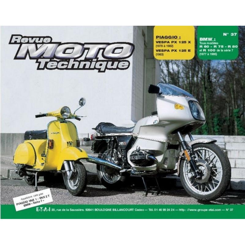 REVUE MOTO TECHNIQUE BMW R60 / R75 / R80 et R100 de 1977 à 1995 - RMT 37 Librairie Automobile SPE 9782726891193