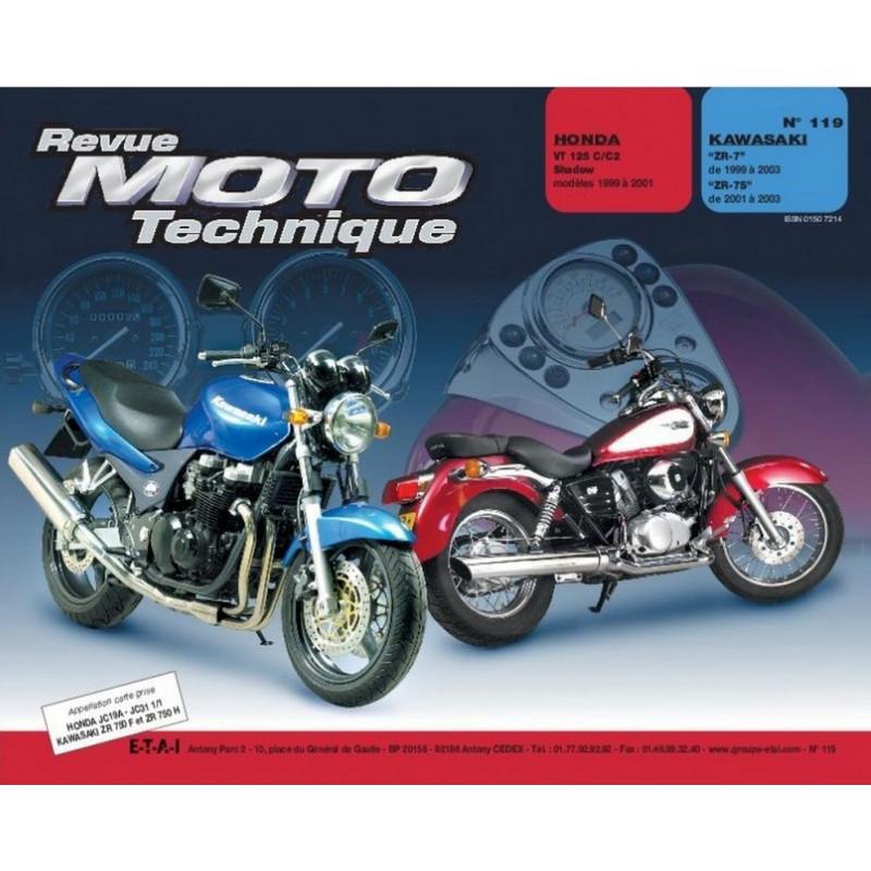 REVUE MOTO TECHNIQUE HONDA VT 125 SHADOW de 1999 à 2001 - RMT 119 Librairie Automobile SPE 9782726891698