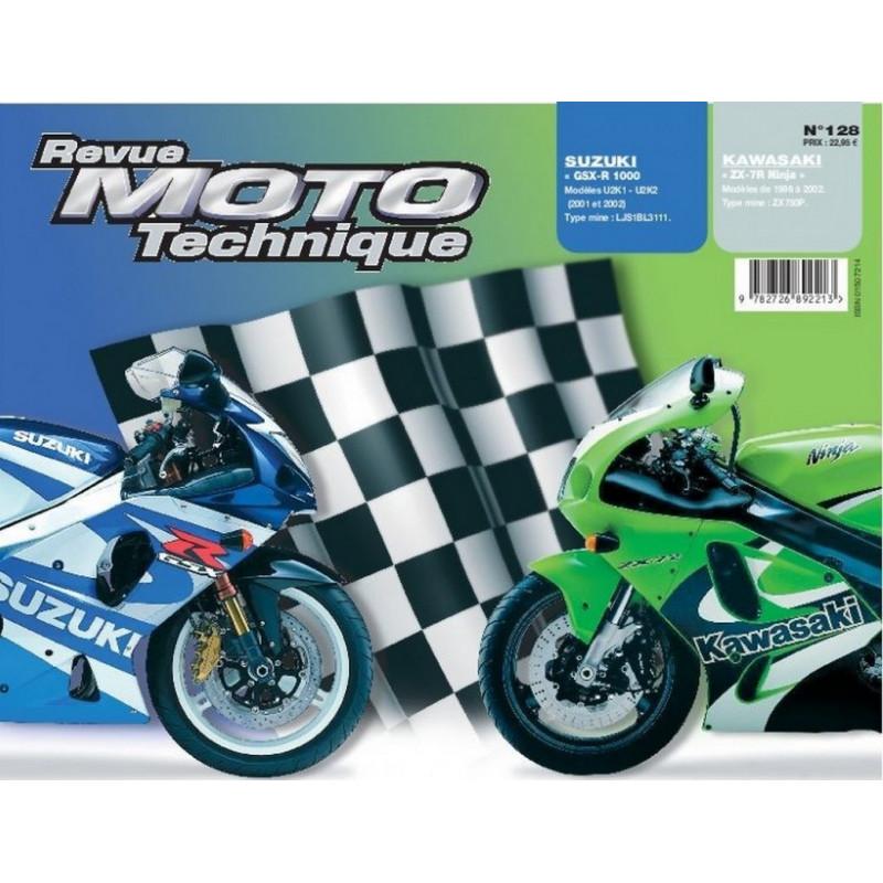 REVUE MOTO TECHNIQUE SUZUKI GSX-R 1000 de 2001 et 2002 - RMT 128