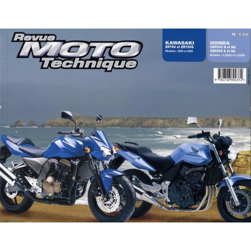 REVUE MOTO TECHNIQUE HONDA CBF 600 de 2004 et 2005 - RMT 136 Librairie Automobile SPE 9782726892374