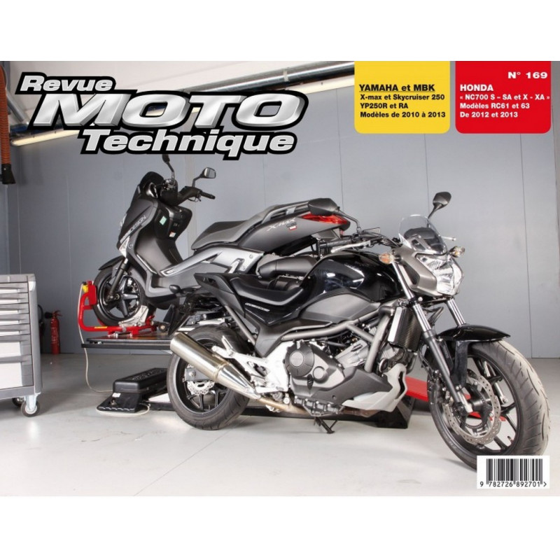 REVUE MOTO TECHNIQUE HONDA NC 700 de 2012 et 2013 - RMT 169 Librairie Automobile SPE 9782726892701