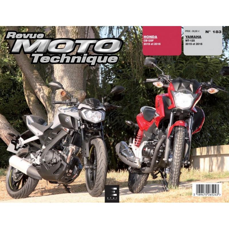REVUE MOTO TECHNIQUE HONDA CB 125F de 2015 et 2016 - RMT 183 Librairie Automobile SPE 9782726892848