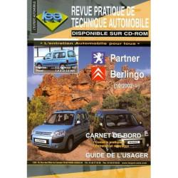REVUE TECHNIQUE BERLINGO et PARTNER - RTA 415 Librairie Automobile SPE TAP415