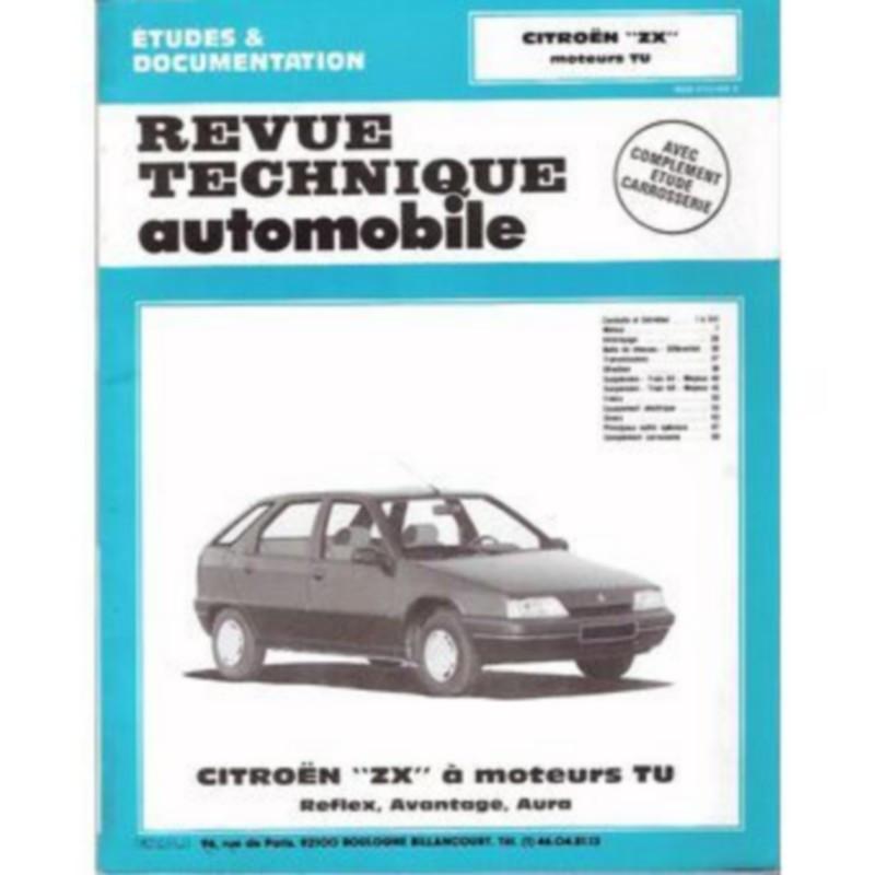 REVUE TECHNIQUE AUTOMOBILE CITROEN ZX à MOTEURS TU Librairie Automobile SPE ETUDESZX