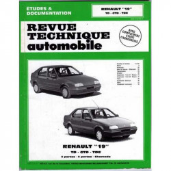 REVUE TECHNIQUE AUTOMOBILE RENAULT 19 TD / GTD et TDE Librairie Automobile SPE ETDUESR19