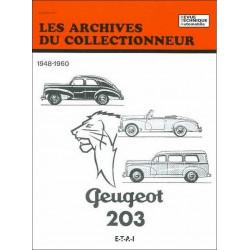 REVUE TECHNIQUE PEUGEOT 203 (1948-1960) ARC11 Librairie Automobile SPE 9782726899151
