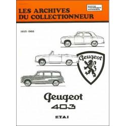 REVUE TECHNIQUE PEUGEOT 403 (1955-1966) ARC21 Librairie Automobile SPE 9782726899168